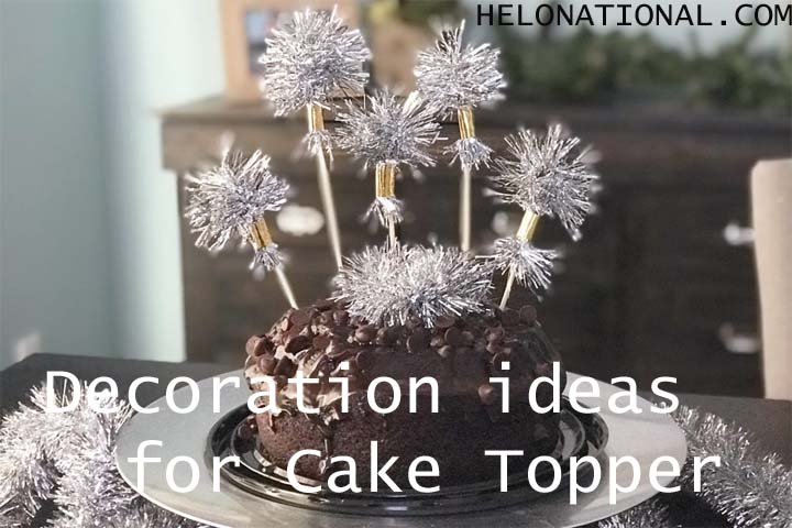 New year decoration ideas for Cake Topper