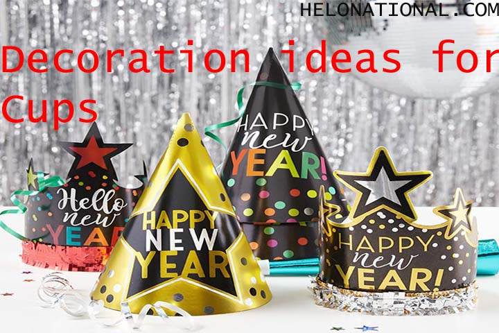 New year decoration 2022 ideas for Party Cups