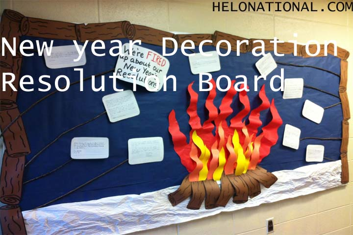New year decoration 2022 ideas for Resolution Board