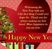 Christmas and new year wishes for boyfriend