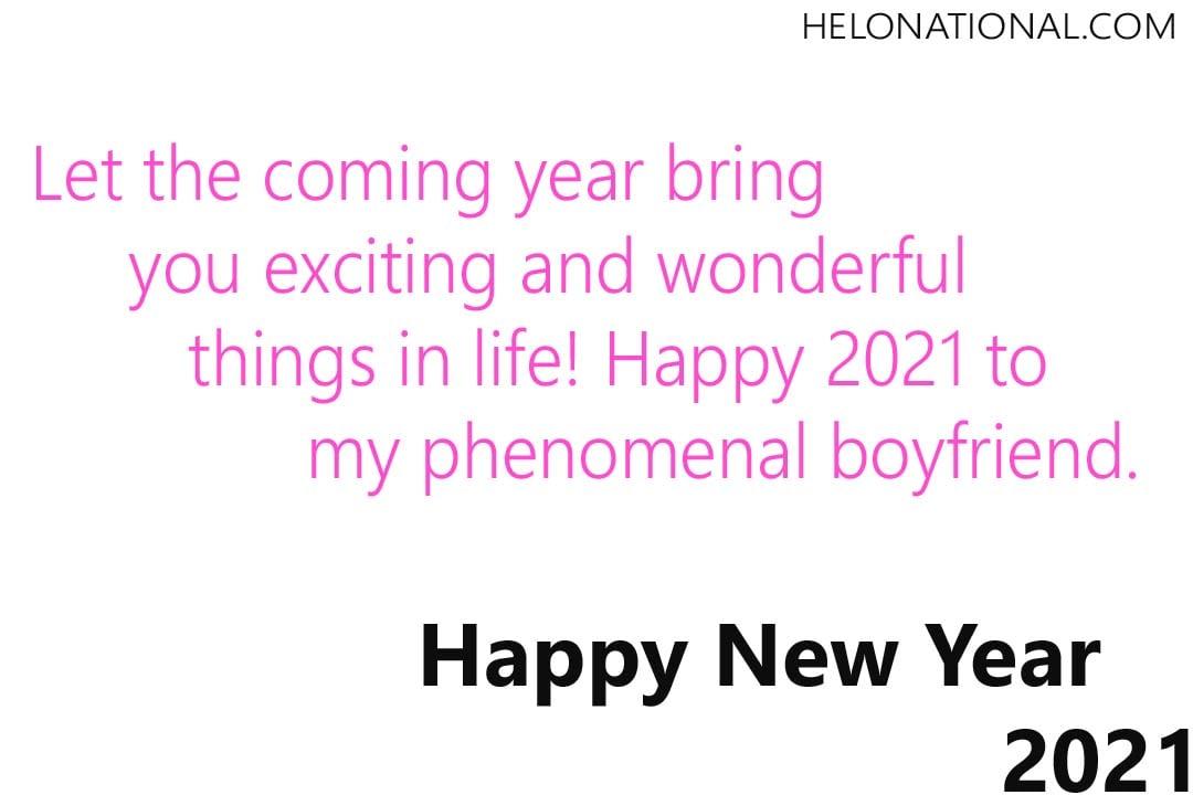 Happy New Year 2021 Boyfriend