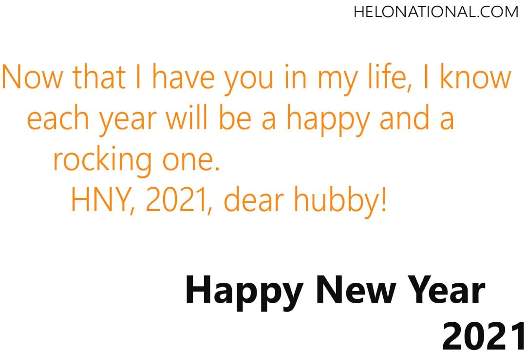 Happy New Year 2021 Husband & Wife greetings