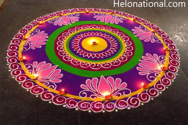 Happy New Year 2021 Rangoli in new years eve