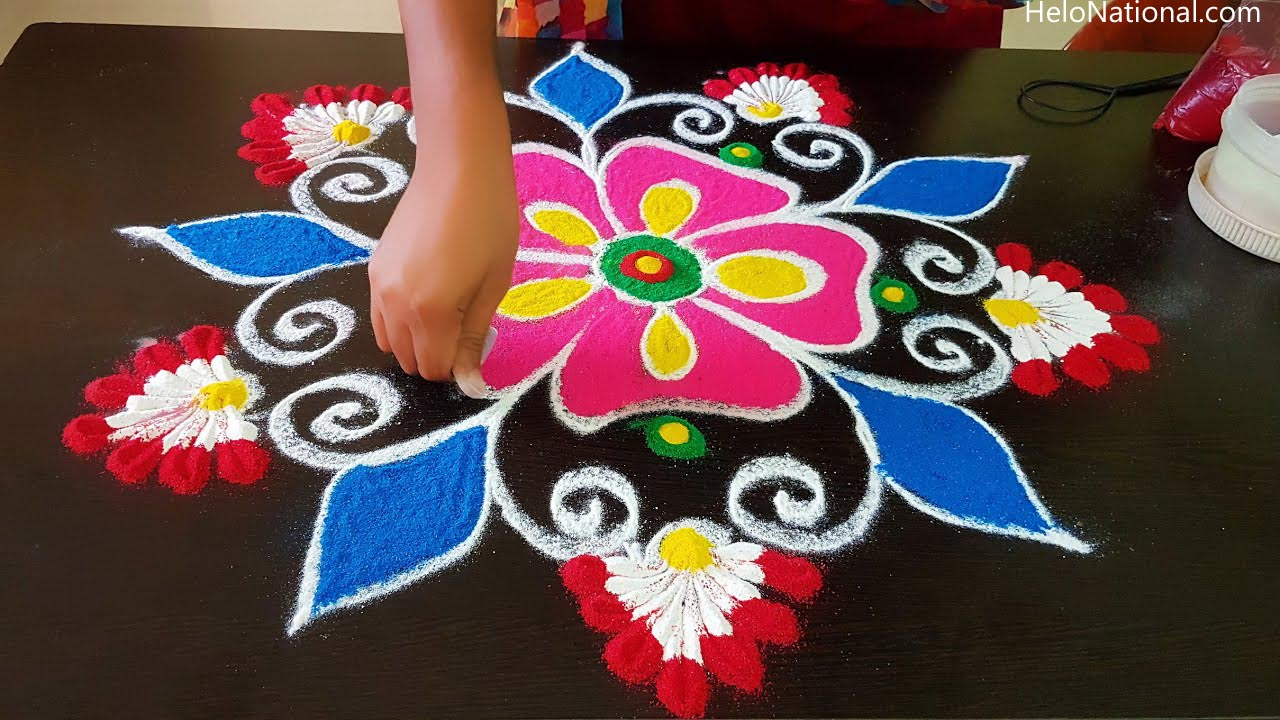 Happy New Year 2021 Rangoli making