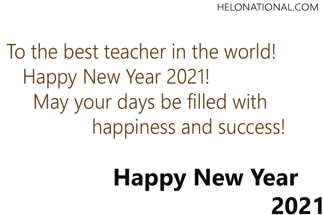 Happy New Year Teachers greetings