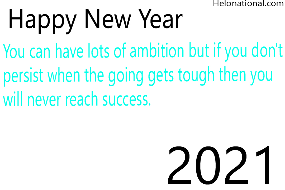 Happy New year 2021 inspirational quotes