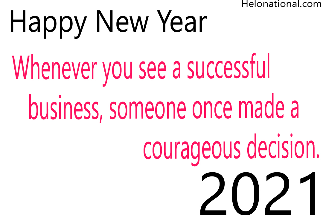 Happy new year 2021 motivational quotes and wishes