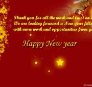 Happy new year wishes business partners
