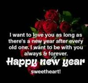 Happy new year wishes to wife images