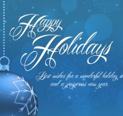 Holiday and new year wishes