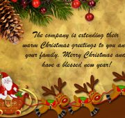 Holiday and new year wishes for employees