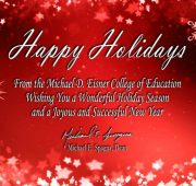 Holiday season and new year wishes