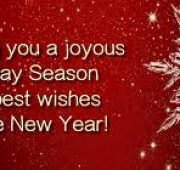 Holiday wishes for new year