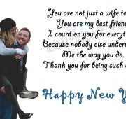 Love happy new year wishes for wife