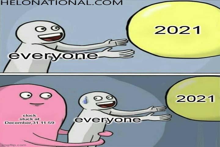 Memes on corona New Year-min