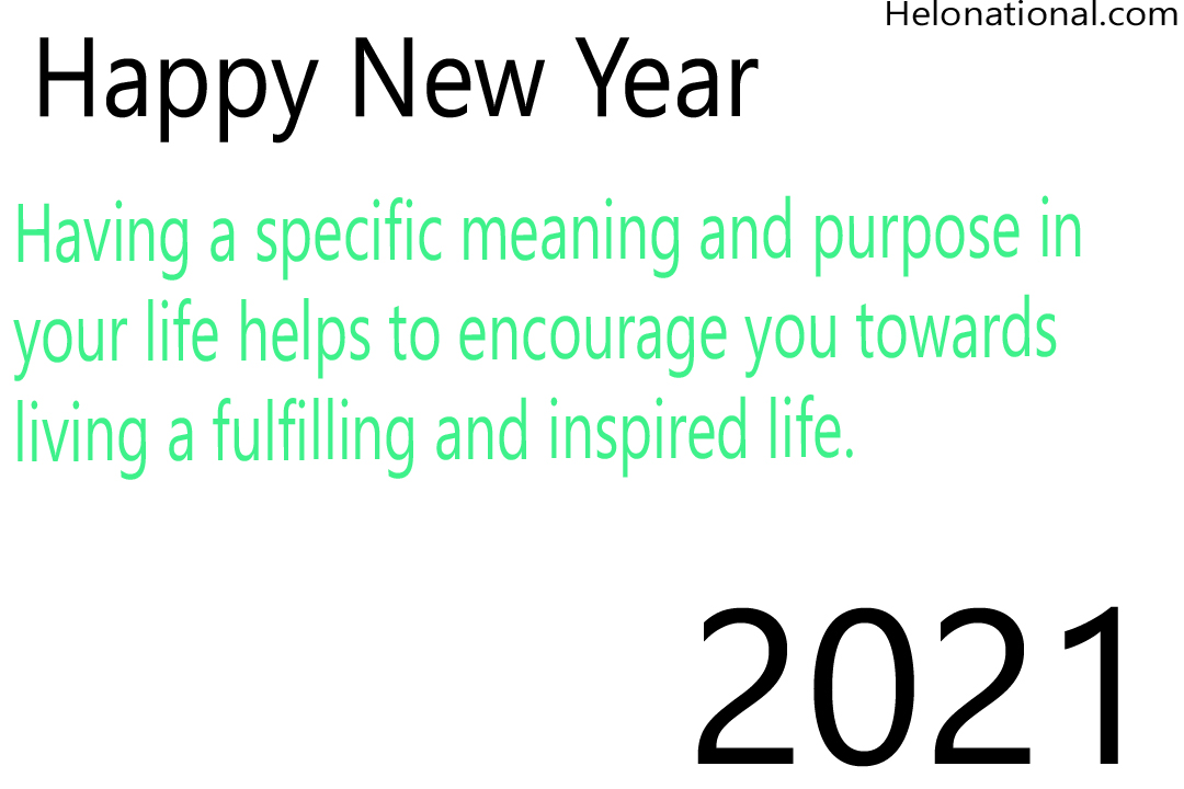 New year 2021 inspirational quotes and wishes