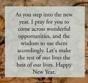 New year prayer wishes sms