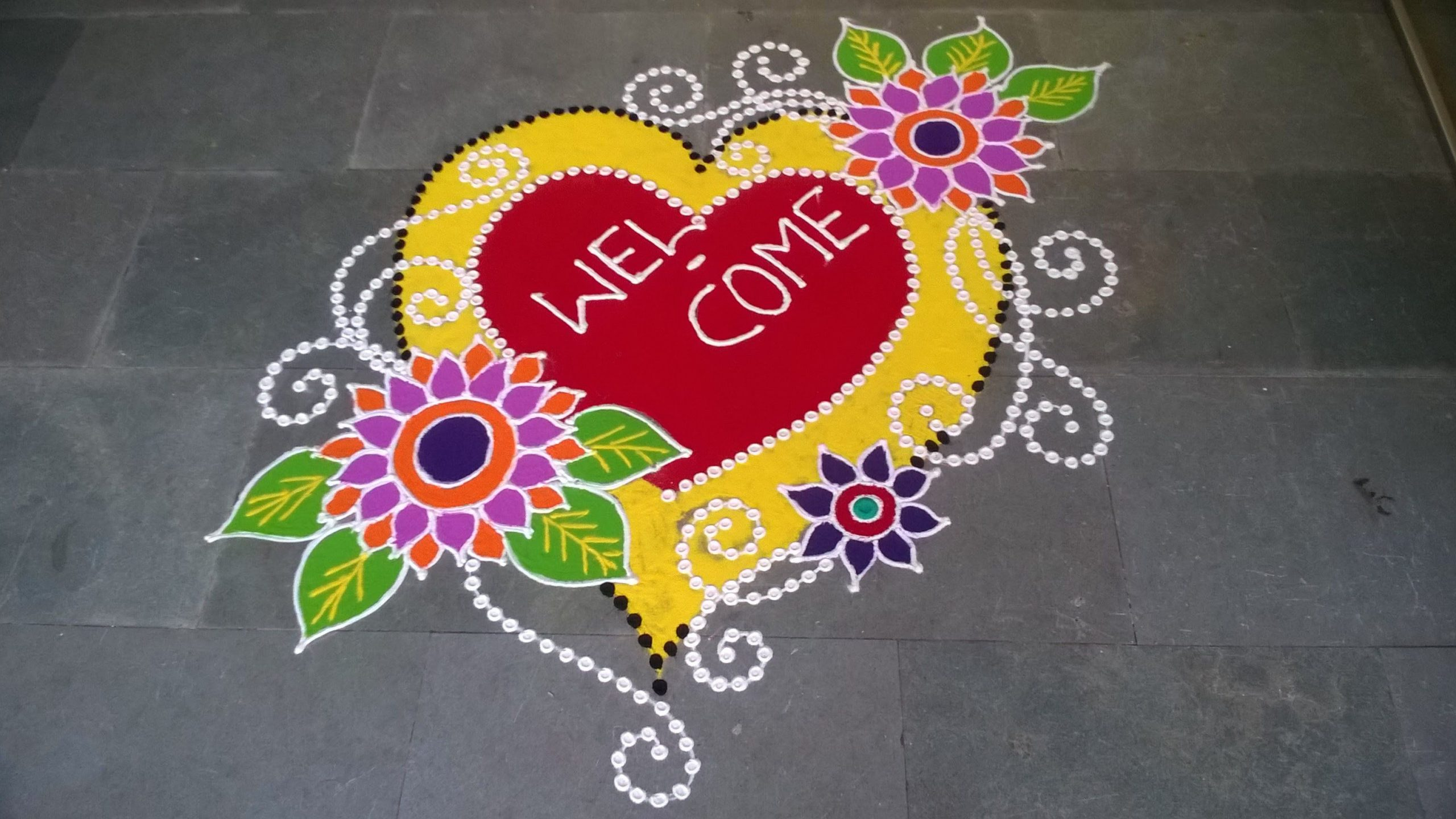 New year rangoli designs 2020-min