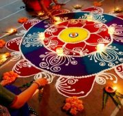 New year rangoli with dots 2020-min
