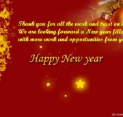 New year wishes business partner