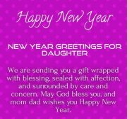 New year wishes daughter