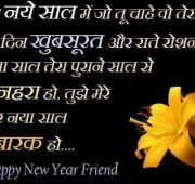 New year wishes for best friend in Hindi