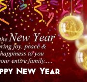New year wishes for family members messages