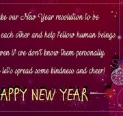 New year wishes kindness