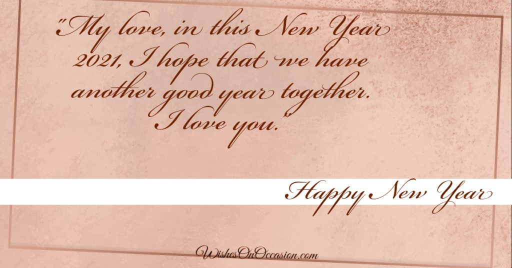 New year wishes lover sms