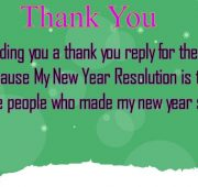 New year wishes reply thanks sms