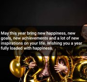 New year wishes with music