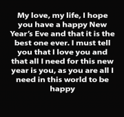 Romantic new year wishes for boyfriend long distance