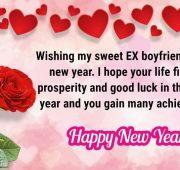 Sweet new year wishes for ex boyfriend