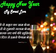 Best new year wishes for girlfriend in hindi