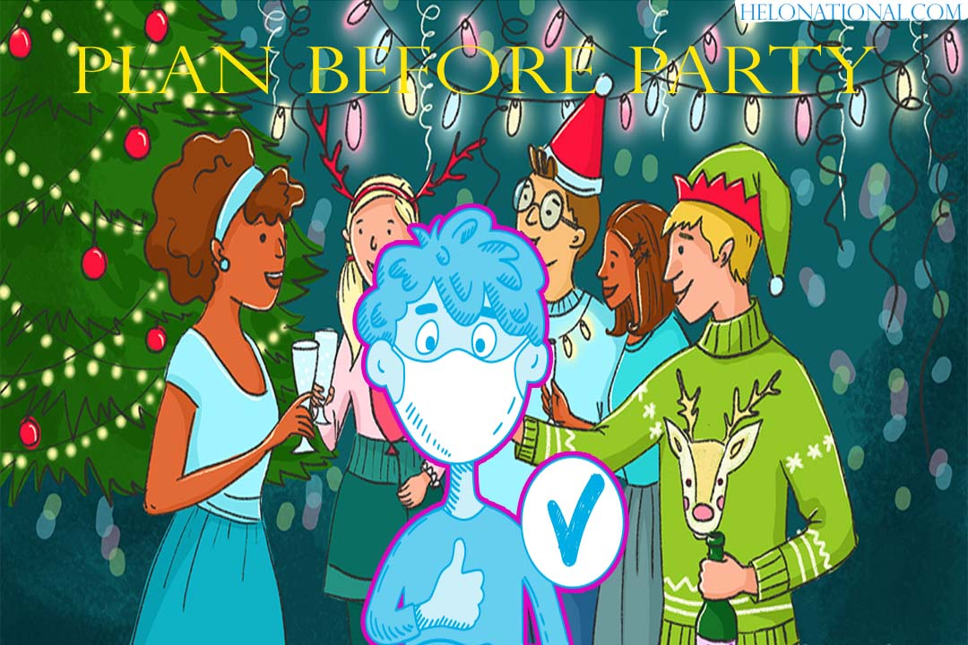 Happy new year 2021 corona quarantine party