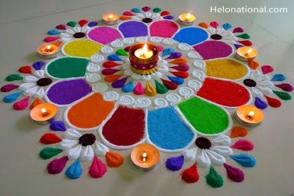 New year eve rangoli