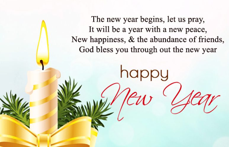 New year messages prayer