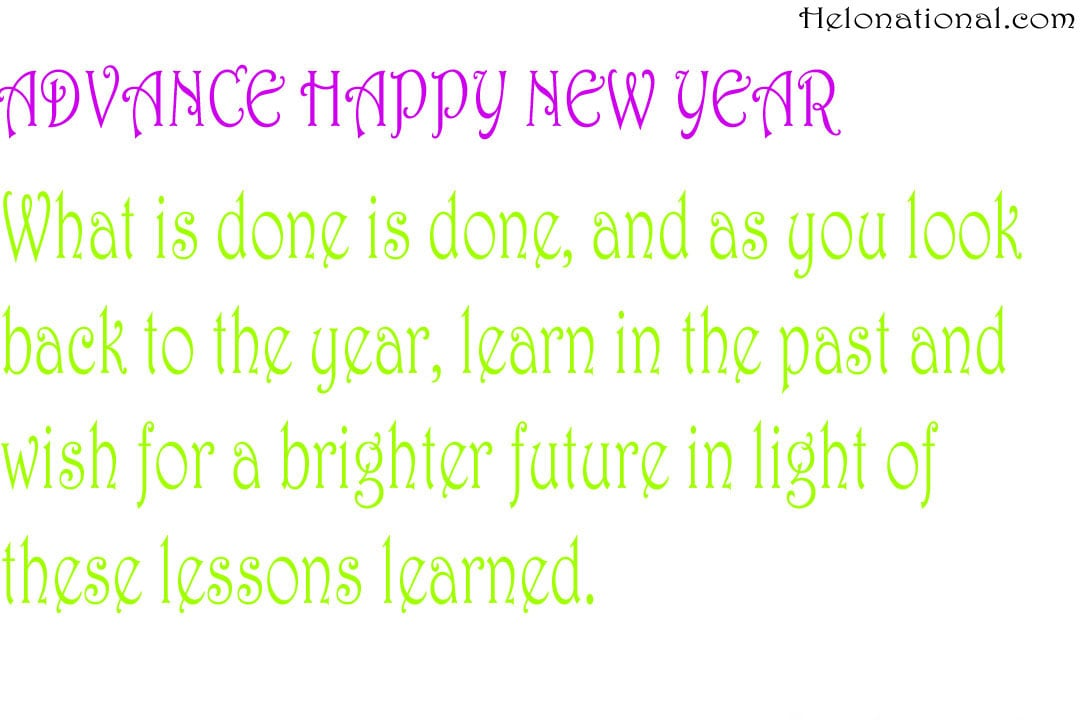 Happy New Year 2022 Wishes In Advance