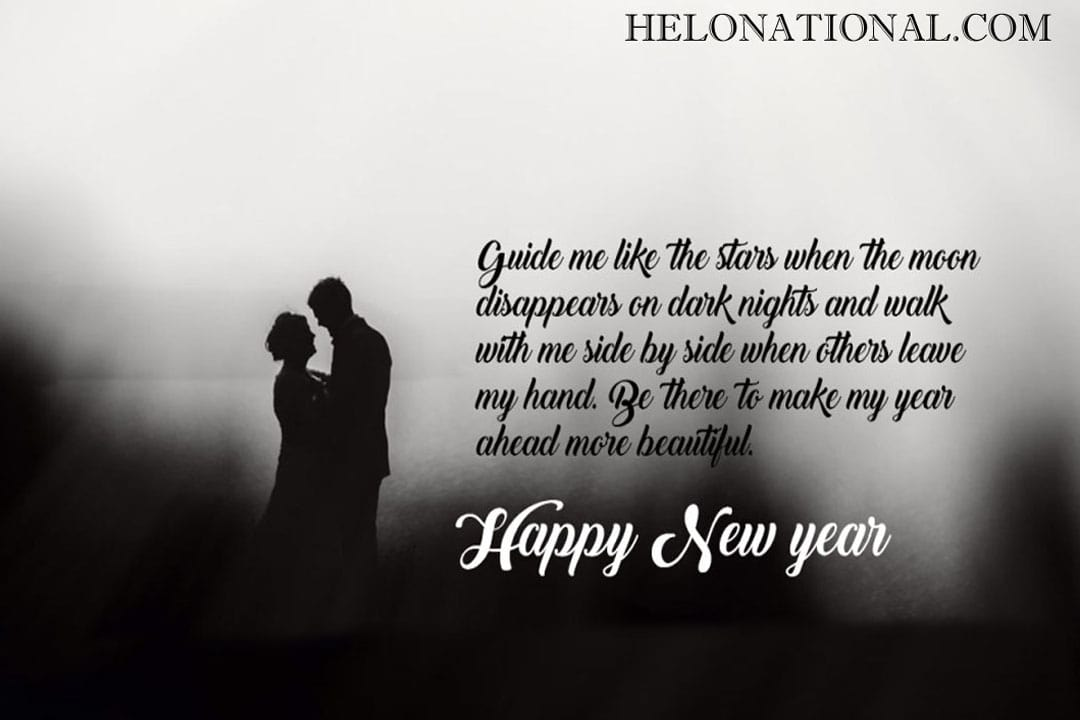 Happy New Year Love Wishes for Him