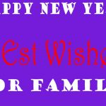 Happy New Year Wishes for Family 2022