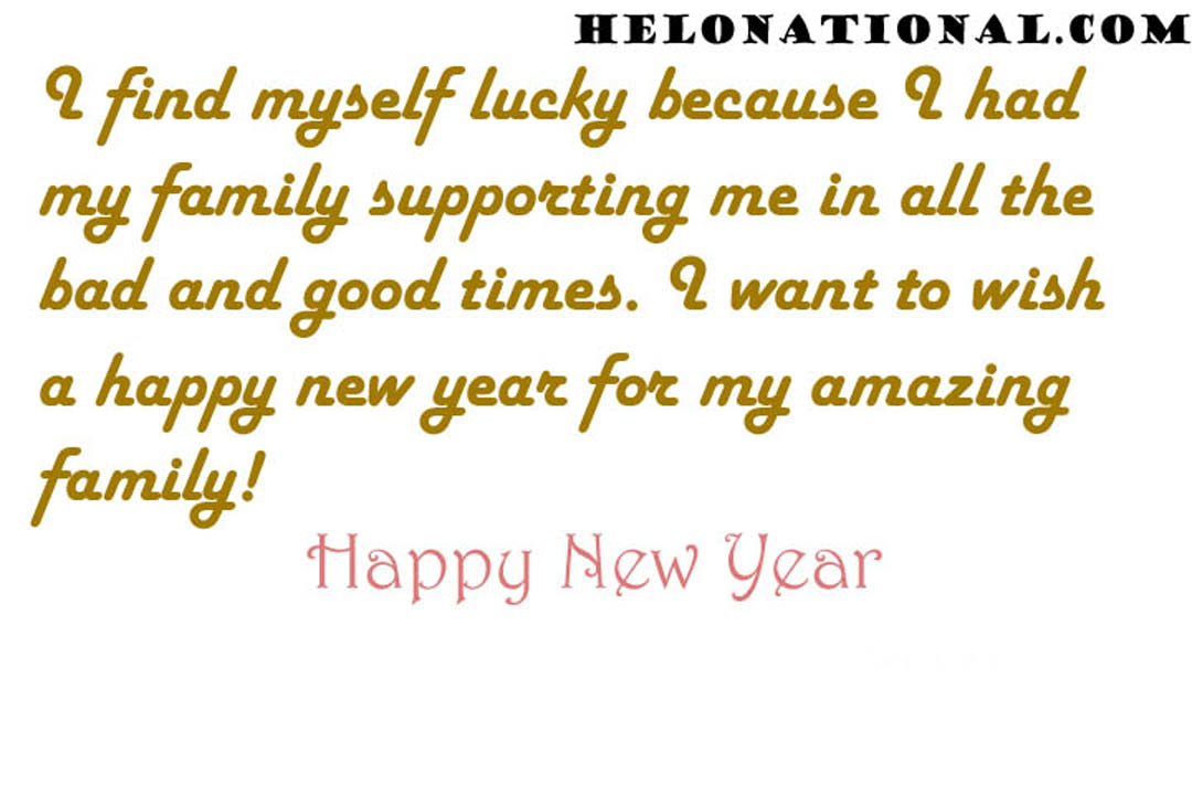 Happy New Year Wishes Messages For Family]