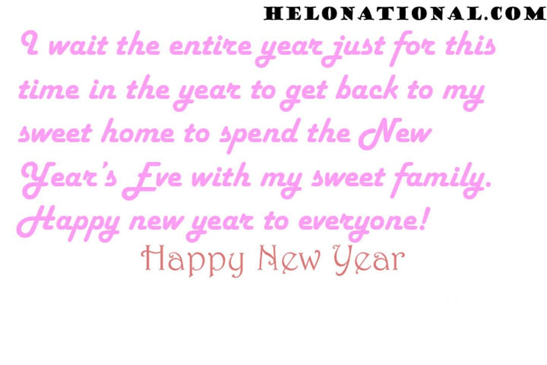 Happy New Year Wishes Quotes For Family