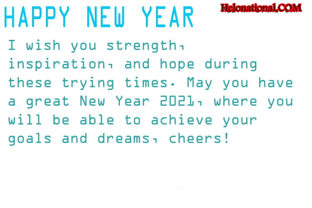 Happy New Year wishes for Quarantine