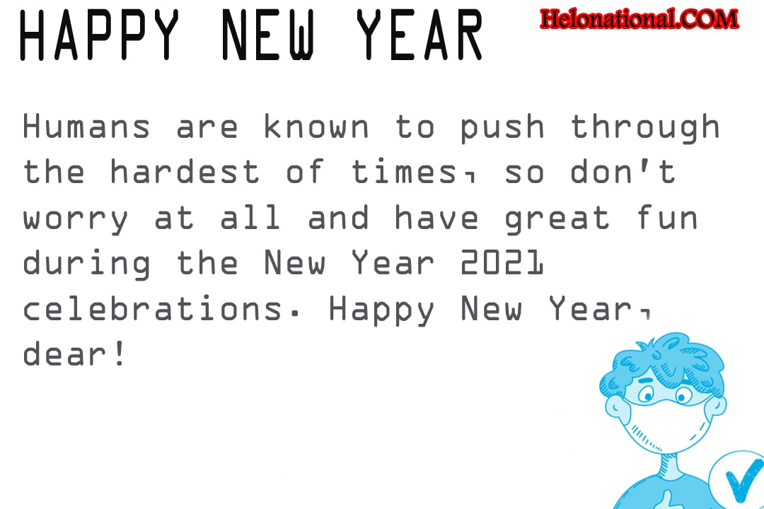 New Year Wishes for covid