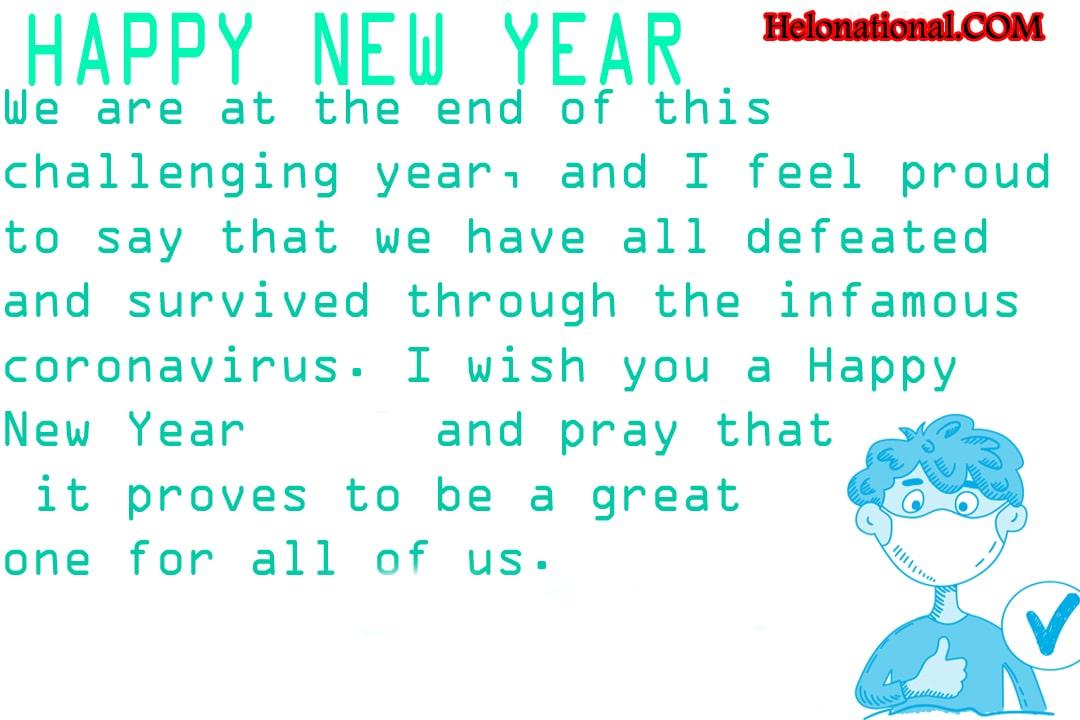 Quarantine happy new year wishes